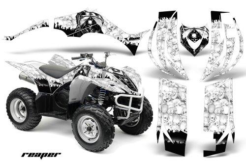 Yamaha Wolverine 450 2006-2012 ATV All Terrain Vehicle AMR Racing Graphic Kit Decal REAPER WHITE -  YAM-WOLVERINE450-06-REAPER-W