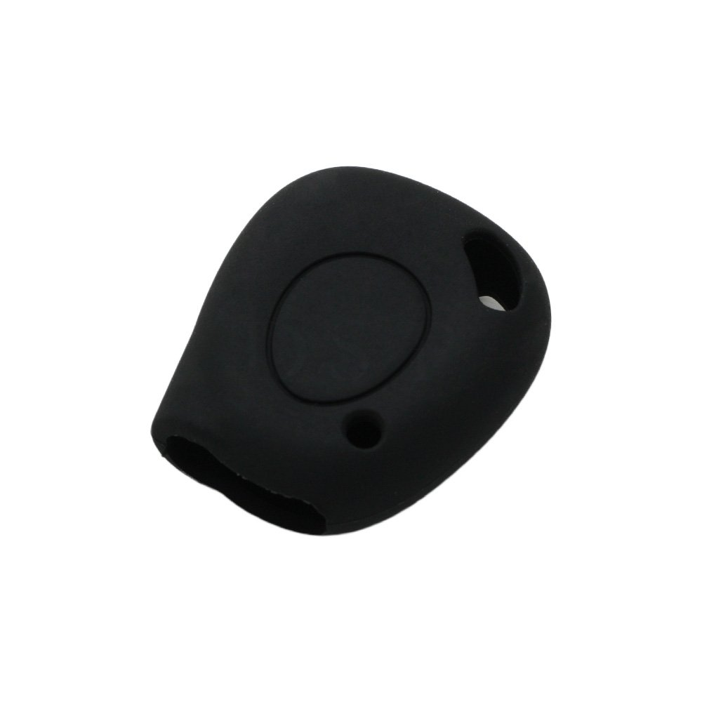 SEGADEN Silicone Cover Protector Case Skin Jacket fit for RENAULT 1 Button Remote Key Fob CV9303 Black