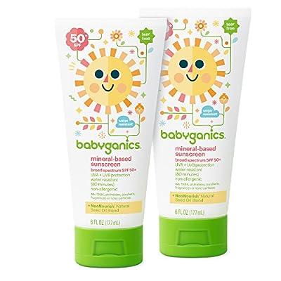 Babyganics Mineral-Based Sunscreen SPF 50, 6 oz, Packaging May Vary