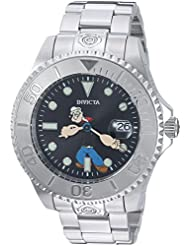 Invicta Mens Character Collection Automatic Stainless Steel Casual Watch, Color:Silver-Toned (Model: 24470)