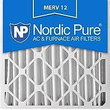 Nordic Pure 20x20x4 AC Furnace Air Filters MERV 12, Box of 2