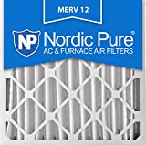 Nordic Pure 20x20x4M12-2 AC Furnace Air Filters MERV 12, Box of 2