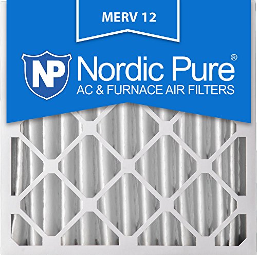Nordic Pure 20x20x4 AC Furnace Air Filters MERV 12, Box of 2