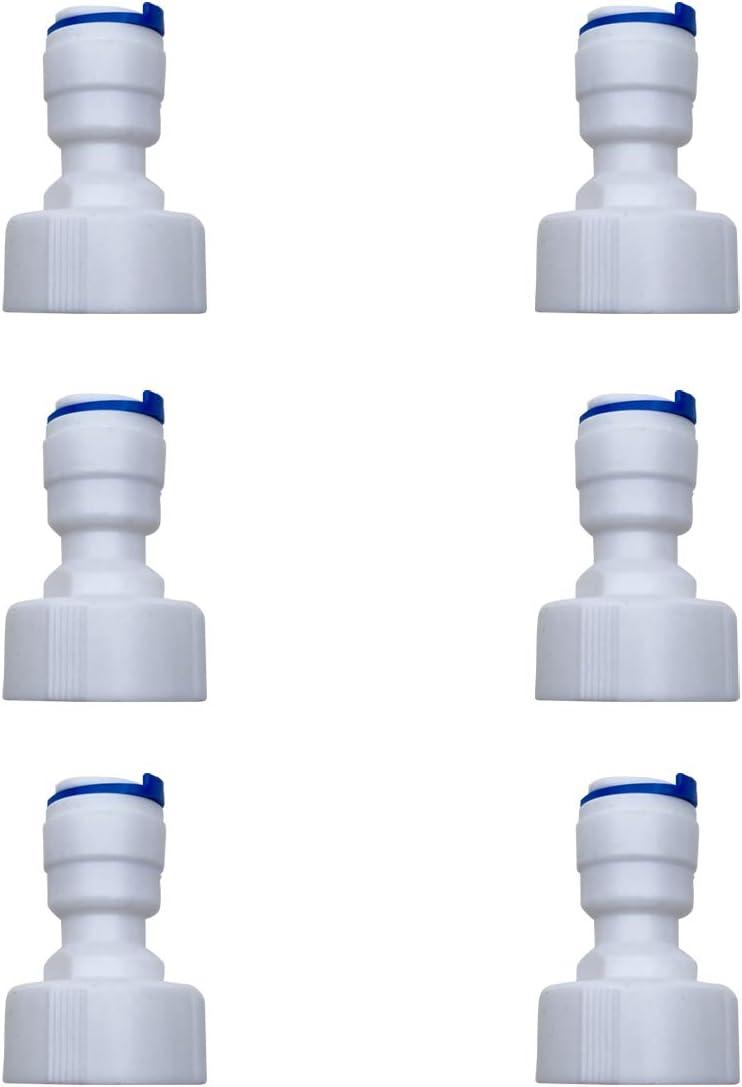 ESHIONG RO(Reverse Osmosis)Hose bib Adapter,NSF Certified Straight 3/8