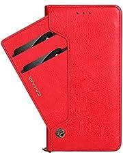 Funda cartera de iPhone XR/XS/XS Max/X/6/6S/7/7Plus/Samsung Galaxy 7/S7/S8/S8 Plus/S9/S9 Plus con una solapa para llevar tarjeta de credito y dinero
