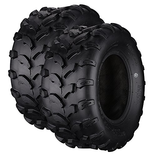 Qind ATV/UTV Tires 20x10-10 Front 4 Ply, Load B, Pack of 2 Tubeless - Saver Tire 10 Turf