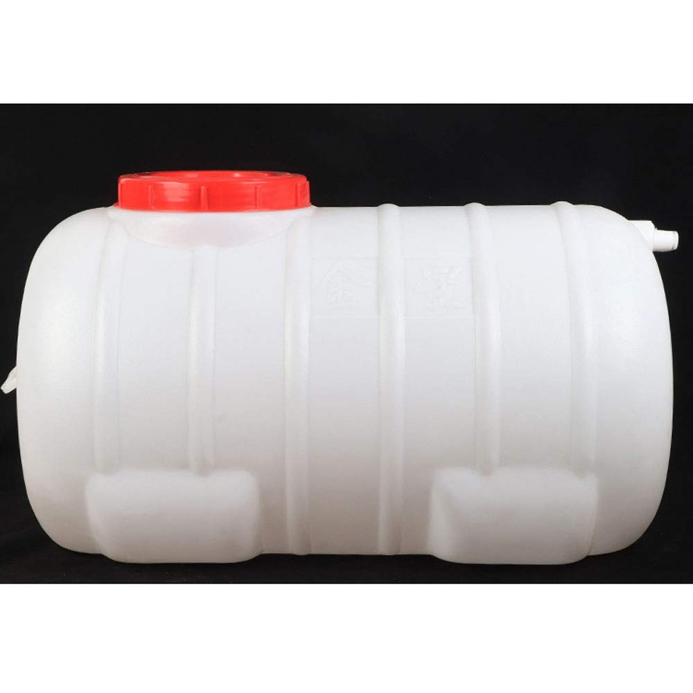 Horizontal Round Water Storage Plastic Bucket Household Outdoor Large Water Storage Tank Anti-Aging with Faucet and 2M Water Pipe