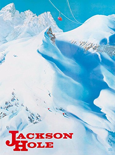 MAGNET Jackson Hole Wyoming Ski Vintage United States Travel Advertisement Magnet Print