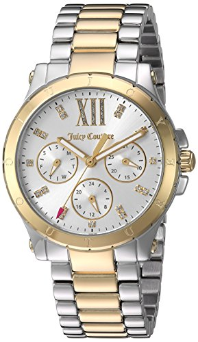 Juicy Couture Women's 'HOLLYWOOD' Quartz Silver and Gold and Stainless Steel Casual Watch, Color:Two Tone (Model: 1901591)