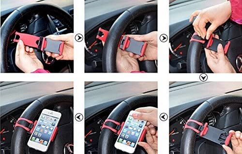 JessicaAlba Universal Cell Phone Car Mount Holder on Steering Wheel Better View /& Buckle Clip Hands Free For Jeep Commander Compass Grand Cherokee Liberty Patriot Wrangler