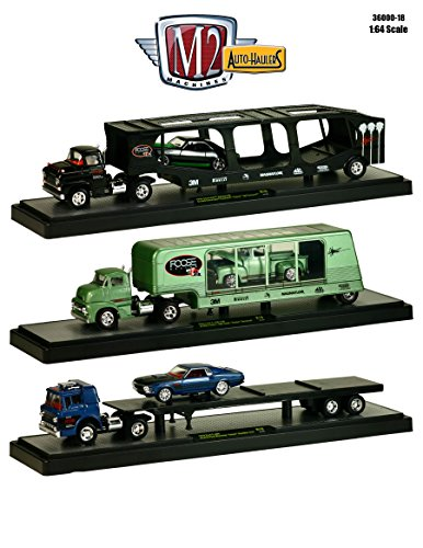 """Auto Haulers Release 18 """"Chip Foose"""", 3 Trucks Set 1/64 by M2 Machines 36000-18 from M2 Machines"""