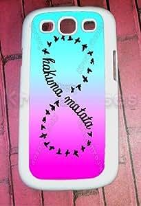 Krezy Case Samsung Galaxy S3 Case, Hakuna Matata Pink Blue, Infinity Galaxy S3 Cover, Samsung Galaxy S3 Cases, Galaxy S3 Case