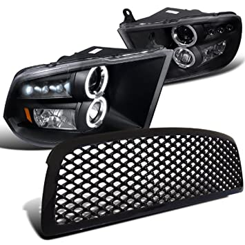 Dodge Ram 1500 proyector faros negro + campana en forma de ...