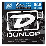 Dunlop DBS45130 Stainless Steel Bass Strings, Medium, .045-.130, 5 Strings/Set