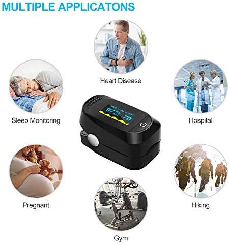 Haofy Oxímetro de Pulso, Pulsioxímetro de Dedo Monitor de Frecuencia Cardíaca y la Saturación de Oxígeno en la Sangre con Pantalla OLED, Aprobado por la FDA y la CE 4
