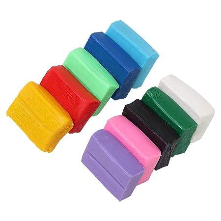 Arcilla seca al aire, arcilla polimérica de 10 colores Kit DIY ...