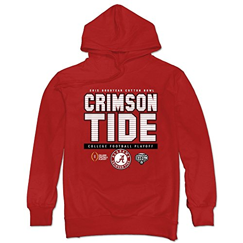 DAVID Men's Alabama Crimson Tide Cotton Bowl Hoodies Red (Hoody Bound Bowl)