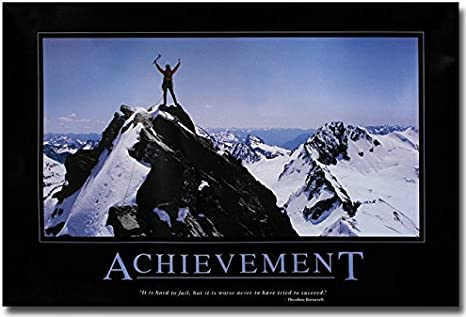 DON/'T FEAR FAILURE Motivational Quotes Silk Fabric Poster 13x20 24x36 inch