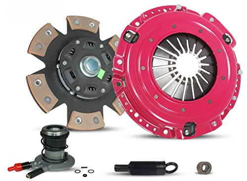 (Clutch With Slave Kit Works With Chevrolet Camaro Pontiac Firebird Base RS Coupe Convertible 2-Door 1996-2002 3.8L V6 GAS OHV Naturally Aspirated (6-Puck Disc Stage 3))