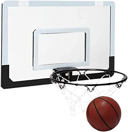 Indoor Sports Game Macro Giant Mini Basketball Hoop And Backboard Set Wall Mounted Boards With Board 18 x 12 Inch Board For Home Dorm Hoop Over the Door Pump Ball Office Net