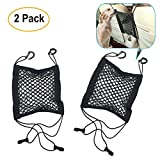 Pack of 2 Dog Barrier Car Seat Net | Universal Dual Layer Stretchable Mesh Organizer with Reinforced Hooks | Keep Your Children and Pets Safe and Prevent Distraction While You Drive | For Sedan, SUV Review