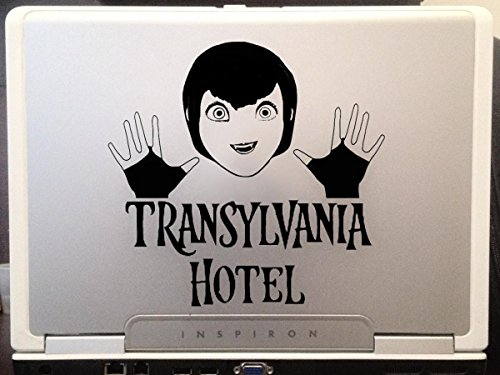 Hotel Transylvania character Mavis Dracula, monsters scary comedy children adult animation n Halloween special cartoon car truck laptop macbook window vinyl decal sticker 6 inches black]()