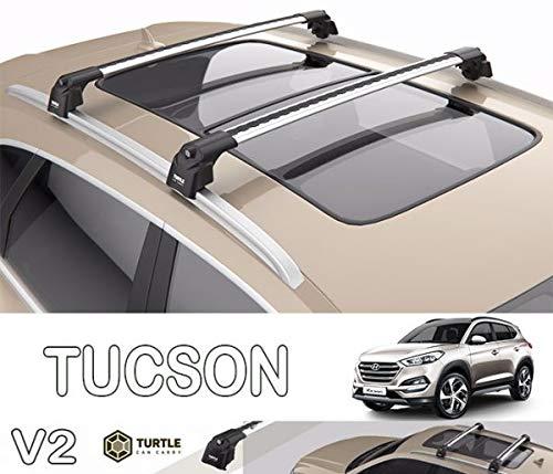 Hyundai Tucson Kit de Barres de Toit en Aluminium