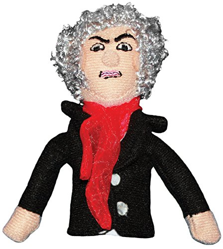 The Unemployed Philosophers Guild Ludwig Van Beethoven Finger Puppet and Refrigerator Magnet - for Kids and Adults