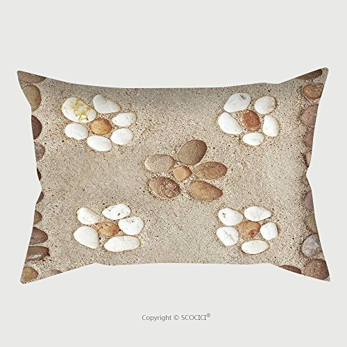 Custom Satin Pillowcase Protector Pattern Of Decorative Stone On Cement Floor 258786992 Pillow Case Covers Decorative by chaoran