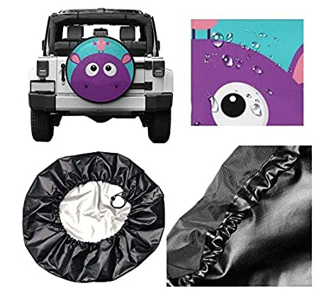 VTIUA Colorful Abstract Elephant Polyester Universal Sunscreen Corrosion Wheel Covers Tyre Cover Tires Protector Covers Weatherproof for Jeep,Trailer,RV,SUV,Truck and Many Vehicles 14 15 16 17