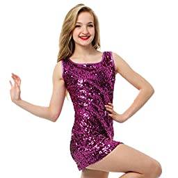 Youth Gia Mia Sequin Tank Dress Pink Medium