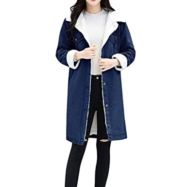Giacche e cappotti Donna Cappotto Jeans Donna Lunga Eleganti