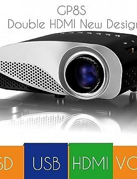 vivibright® Nueva gp8s mejor precio HDMI VGA SD Introdujo - Mini ...