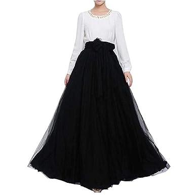 e0e24367e 2019 Women Wedding Long Maxi Puffy Tulle Skirt Floor Length A Line with  Bowknot Belt High