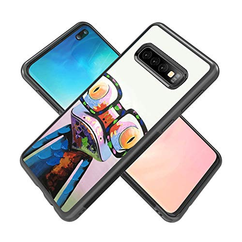 Samsung Galaxy S10 Plus case Colorful Tree Frog Full Body Case Cover Screen Protector Heavy Duty Protection case Shockproof case for Samsung Galaxy S10 Plus