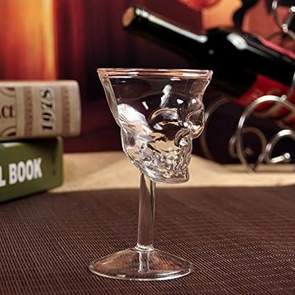 1PC Cristal Calavera Cabeza Copa Chupito Whisky Vino Vaso ...