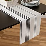 Multi-Stripe Table Runner, 100% Cotton & Fully Lined, 13