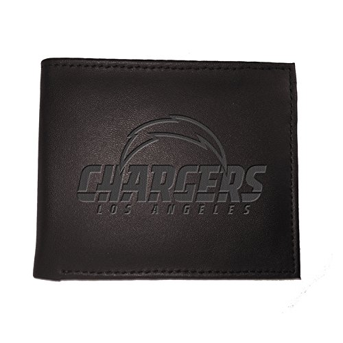 NFL Los Angeles Chargers 7WLTB3825BWallet, Bi-Fold, La Chargers, Black by Team Sports America