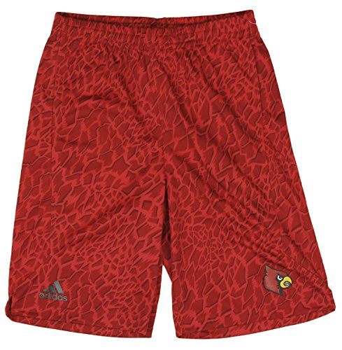 Adidas Cardinal Shorts - University of Louisville Cardinals NCAA Big Boys Youth Crazy Light Shorts, Red (Red, Large (14-16))