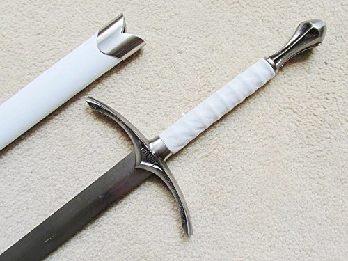 S4850 MOVIE LORD OF THE RINGS HOBBIT GLAMDRING GANDALF SWORD W/ WHITE SHEATH 42""
