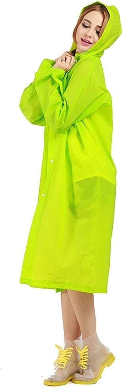 BOLAWOO Impermeabile Trasparente Giacca Antipioggia Donna da Impermeabile Adatto All\'Ambiente Mode di Marca Eva Abbottonare Pantaloni Impermeabili da Pioggia in Tinta Unita Grün