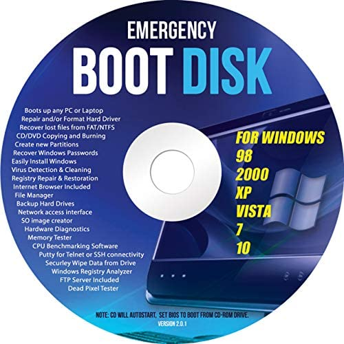 Ralix Windows Emergency Boot Disk – For Windows 98, 2000, XP, Vista, 7, 10 PC Repair DVD All in One Tool (Latest Version)