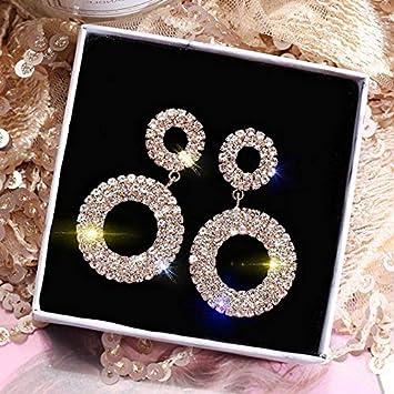 e0c0e0c69247a Amazon.com: Waldenn Fashion Luxury Round Drop Dangle Earrings Women ...