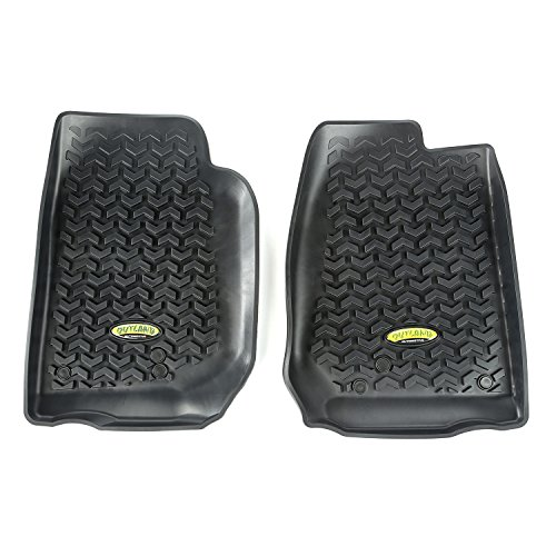 Outland 391292003 Black Front Row Floor Liner For Select Jeep Wrangler Models - Front Floor Liner Mats