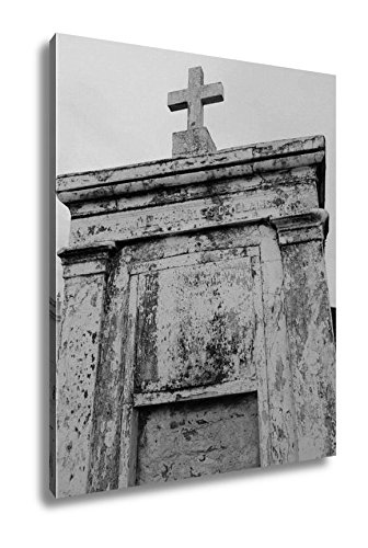 Ashley Canvas St Louis Catholic Cemetery New Orleans Louisiana USA, Home Office, Ready to Hang, Black/White 25x20, AG6544555 by Ashley Canvas