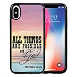 iPhone X Case, Quote Matthew 19:26, DOO UC Laser Technology for Protective Case for Apple iPhone X (2017)