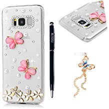 Galaxy S8 Case,Full Body Special Pattern Ultra-slim Lightweigh Transparent Phone Case Clear Premium Hard PC Plastic Protective Case Cover for Samsung Galaxy S8 by MOLLYCOOCLE, Resin butterfly Flower