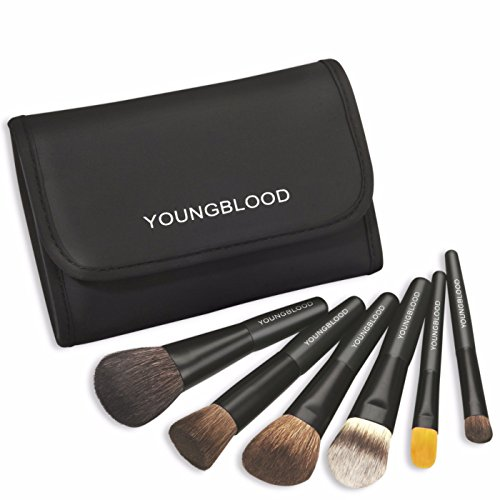 (Youngblood Mineral Cosmetics Natural Mini Brush Kit - Professional Makeup Essentials - Set of 6 )