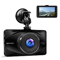 apeman Full HD 1080P Dashcam Autokamera Video Recorder mit 170¡ã Weitwinkelobjektiv, 3 Zoll LCD-Bildschirm, WDR, Bewegungserkennung, Parkmonitor, Loop-Aufnahme, Nachtsicht und G-Sensor