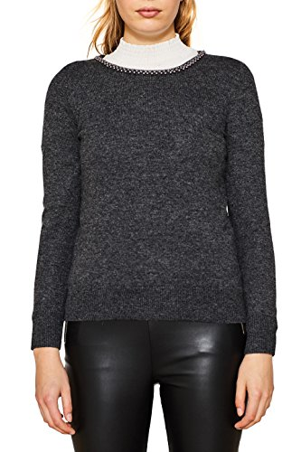 ESPRIT Collection, Pull Femme Gris (Dark Grey 5 024)
